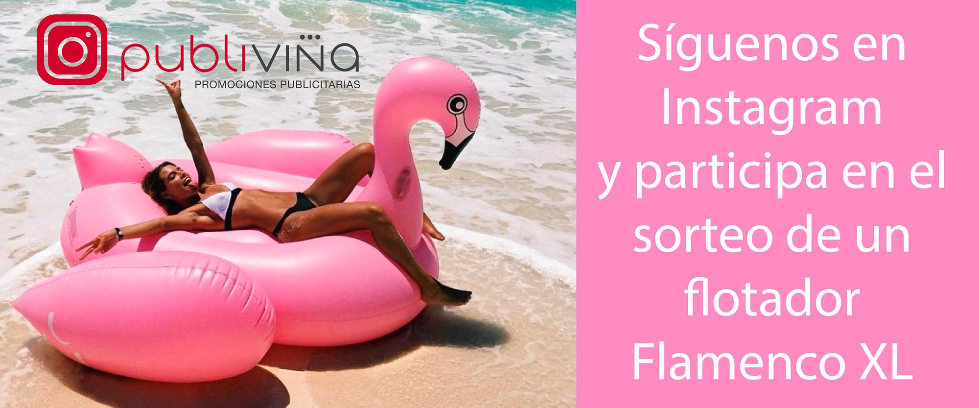 Concurso Instagram Flotador Flamenco XL Publiviña